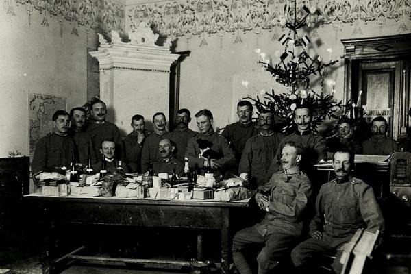 Новорічний стіл у Бережанах 105 років тому