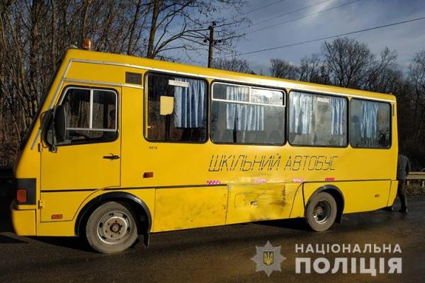 На Тернопільщині шкільний автобус потрапив у аварію