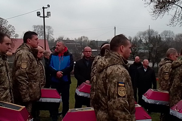 На Тернопільщині відбулося перепоховання вояків УПА та ОУН