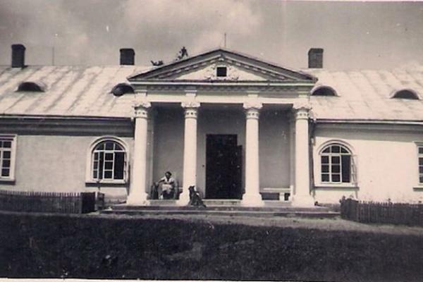 Палац в Літятині на ретро фото