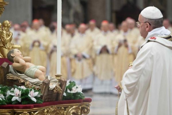 Різдвяна ніч у Ватикані: Літургія під проводом Папи Франциска (Наживо)