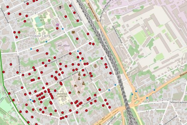 На Інтерактивну карту прибирання додано інформацію про двори та відповідальні структури за їхнє прибирання взимку