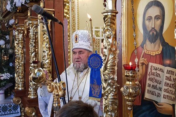 Митрополит Василій відслужив подячну Архиєрейську Різдвяну літургію у Великих Гаях