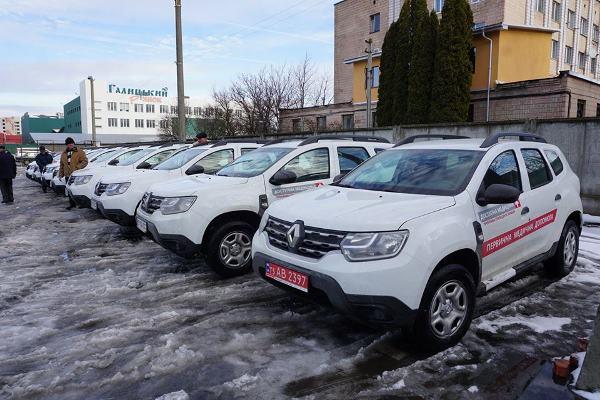 Тернопіль: передали ключі від ще 62 автівок для амбулаторій області