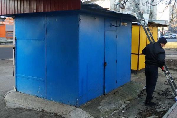 У Тернополі  демонтували  ще  один кіоск