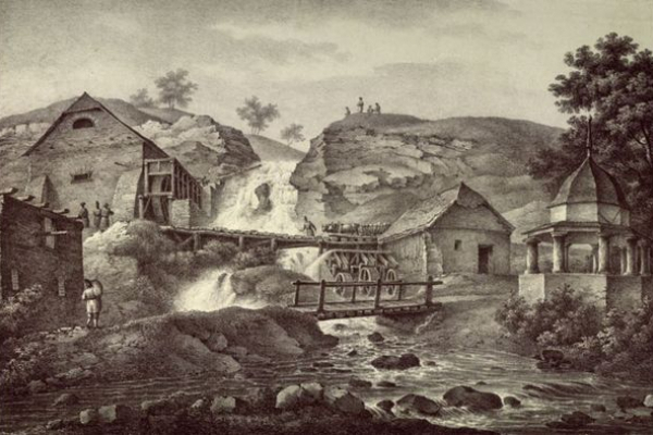 Як виглядав Джуринський водоспад у ХІХ столітті