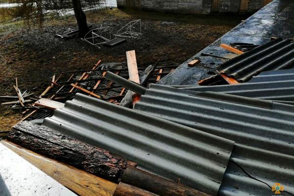 На Тернопільщині вітер зірвав дах школи