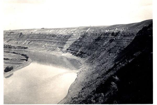 Каньйон на Тернопільщині на ретро фото