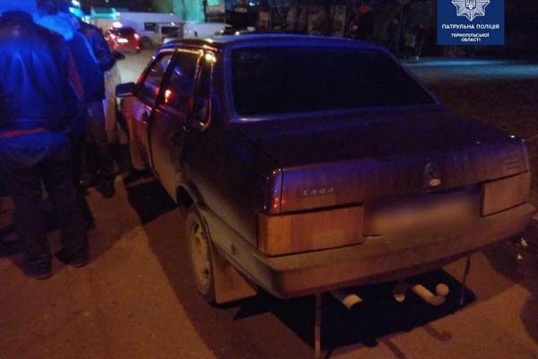 У Тернополі п'яний водій вчинив ДТП і тікав від поліції (Фото)