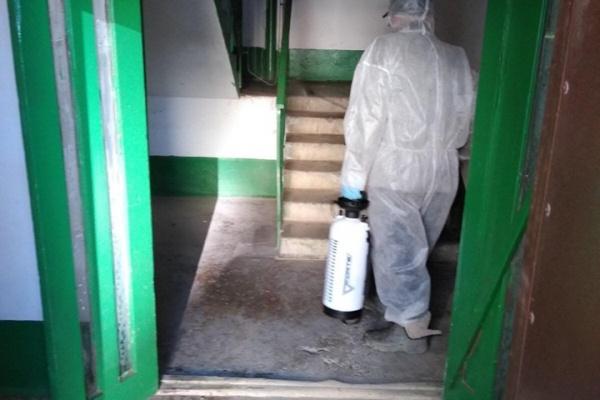 У Тернополі проводять дезінфекцію під'їздів