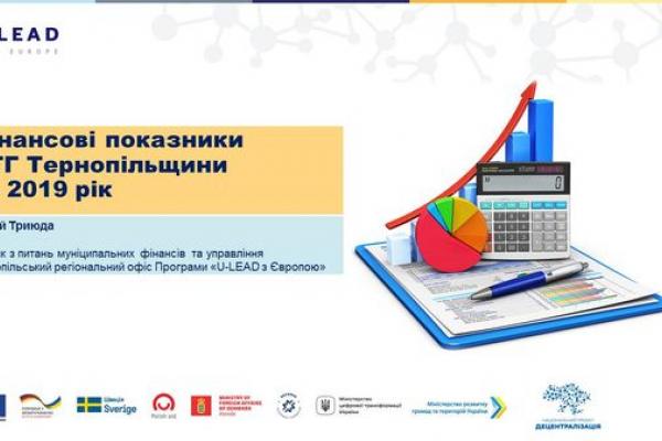 Які фінансові показники ОТГ Тернопільщини за 2019 рік?
