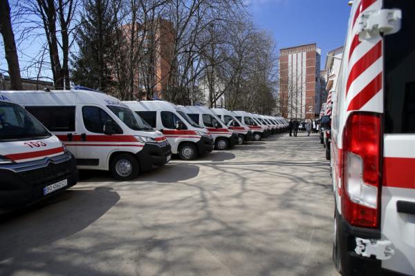 Тернопіль: прибули нові машини швидкої допомоги