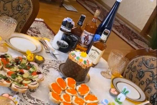 Дружина екс-голови ОДА Тернопільщини хвалиться ікрою та елітним алкоголем