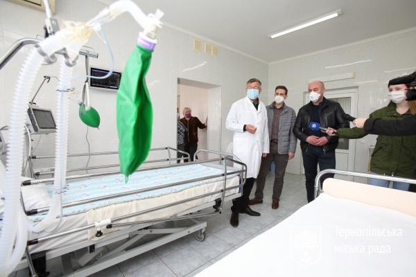 У Тернополі по 10 тис. грн отримали працівники двох лікарень, які надають допомогу хворим на COVID-19