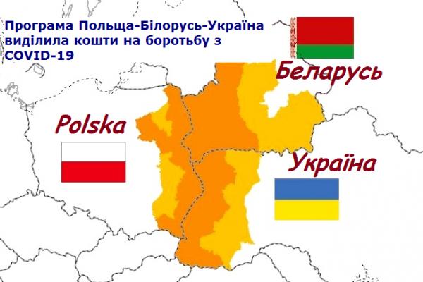 Програма Польща-Білорусь-Україна виділила 3 млн. євро на боротьбу з COVID-19