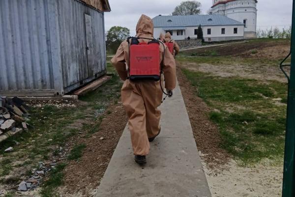 Тернопільщина: триває дезінфекція у Загаєцькому чоловічому монастирі