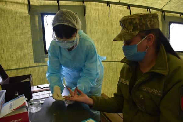 Тернопільських артилеристів на Рівненському полігоні тестують на «COVID-19»