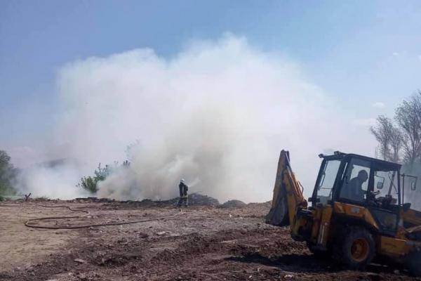 У Тернополі тліє сміття на Микулинецькій