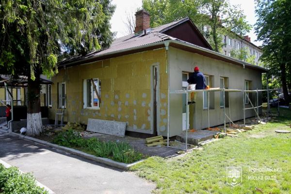 У дошкільних навчальних закладах Тернополя утеплюють фасади