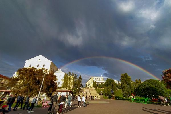 Найкращі фото веселки над Тернополем