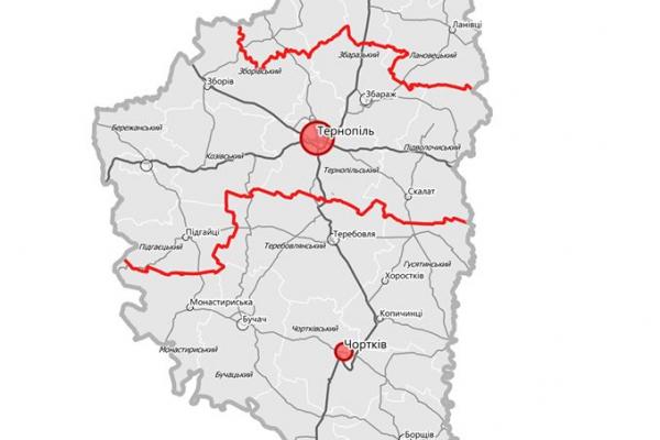 Тернопільщину поділять на три частини: новий проєкт районів
