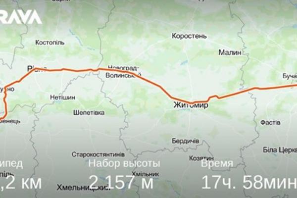 Мешканець Тернопільщини велосипедом дістався Києва менш ніж за добу