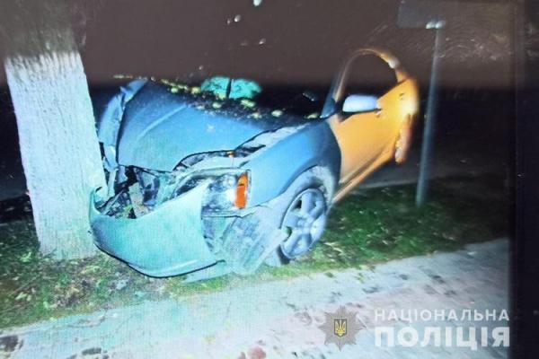 На Тернопільщині ДТП: п'яний водій врізався у дерево