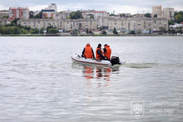 Акваторію Тернопільського ставу обстежуватимуть на моторному човні