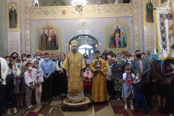 Владика Нестор звершив чин оновлення храму у Стриївці Збаразького благочиння