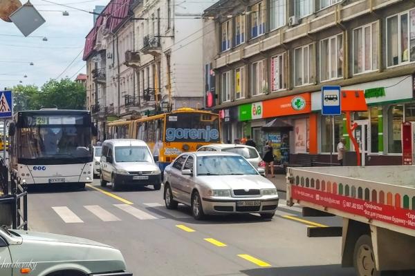 У Тернополі на вул. Руській нова Схема організації дорожнього руху