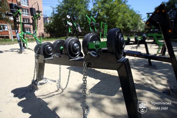 У Тернополі облаштували майданчик для Street workout