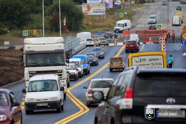 У Тернополі відкрили проїзд  на Гаївському мості