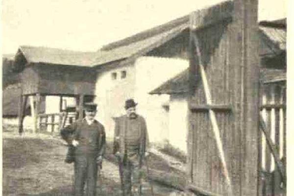 Палац в Коропці на столітніх фото