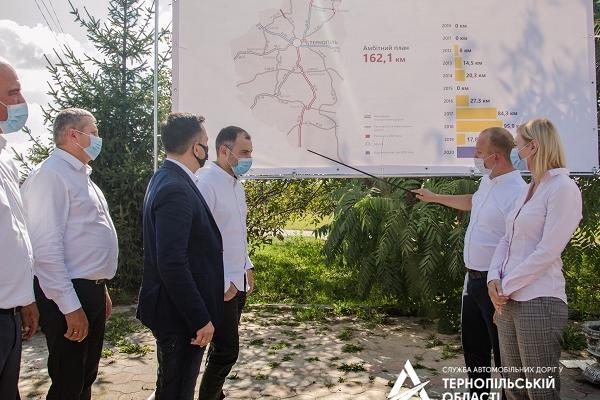 Керівник Укравтодору перевірив, як на Тернопільщині ремонтують дороги