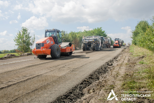 Поточний ремонт дороги у Тернопільській області щодня охоплює нові локації