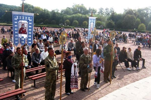 Ветерани війни з москалями та волонтери Теребовлянщини на 12 Всеукраїнській Прощі в Зарваниці