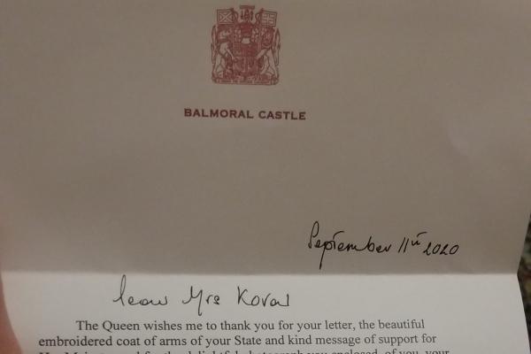 Тернополянка отримала лист від Єлизавети ІІ