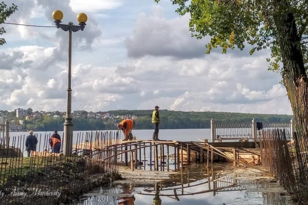 Тернопіль: розпочали будівництво моста через річку Рудку