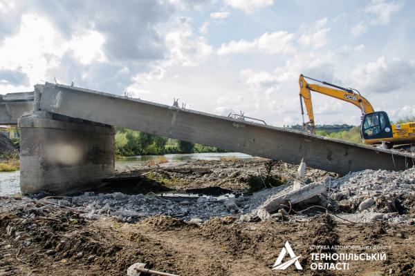 Дорожники Тернопільщини розпочали капітальний ремонт мосту
