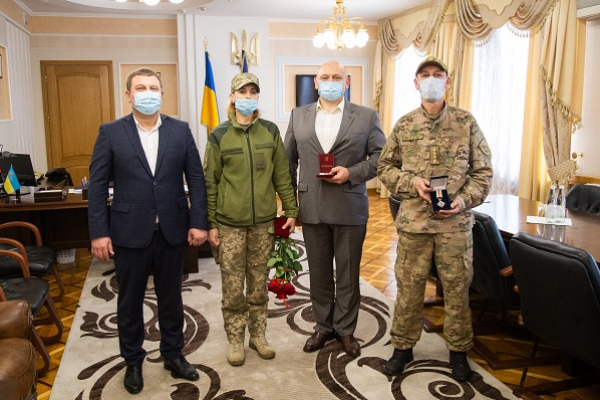 Військовослужбовці з Тернопільщини отримали відзнаки Секретаря ради РНБО