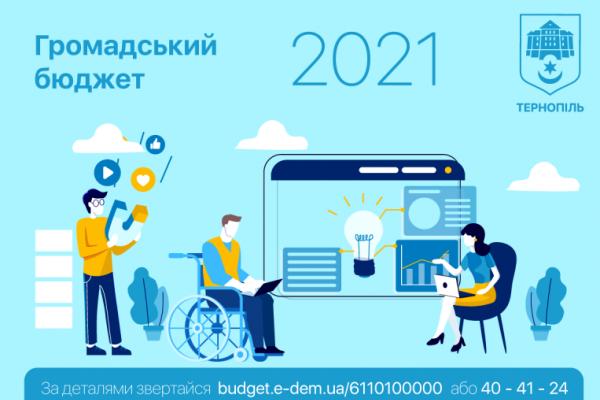 Рейтинг проєктів тернополян «Громадський бюджет 2021»