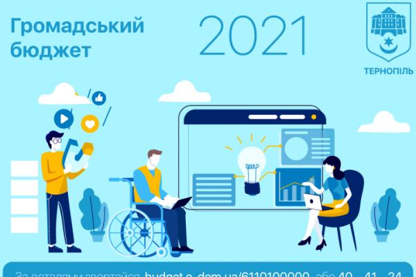 У Тернополі завершилося голосування за проєкти «Громадського бюджету 2021»