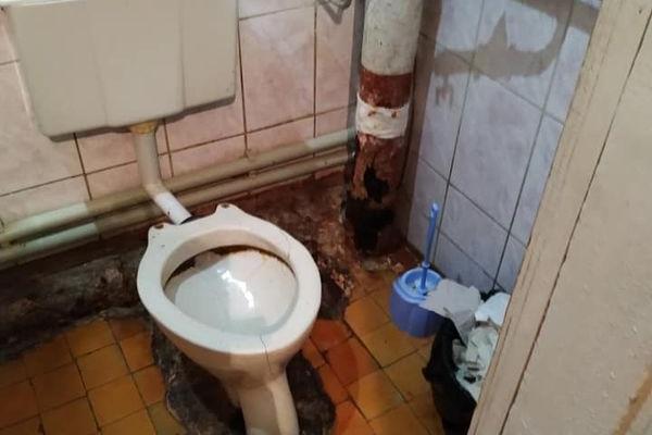 У Бережанській лікарні, де лікують хворих на КОВІД – жахливий туалет - один на всіх і без гарячої води