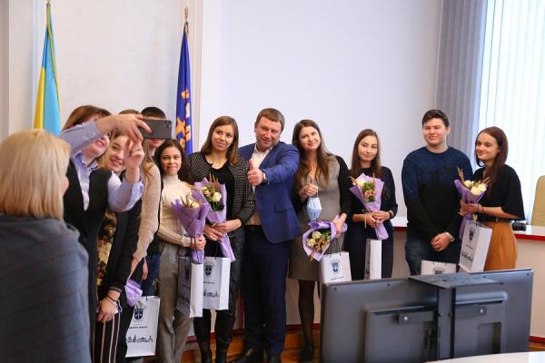 Володимир Труш привітав кращих студентів області з отриманням стипендії Президента та Верховної Ради Україні
