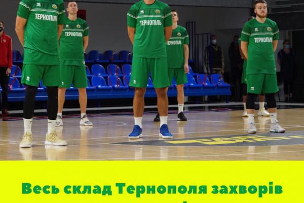 Баскетбольна команда «Тернопіль» захворіла на коронавірус