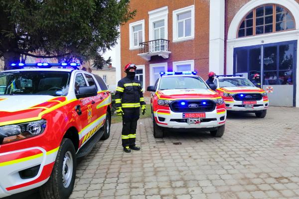 Ще три райони Тернопільщини отримали сучасні аварійно-рятувальні автомобілі