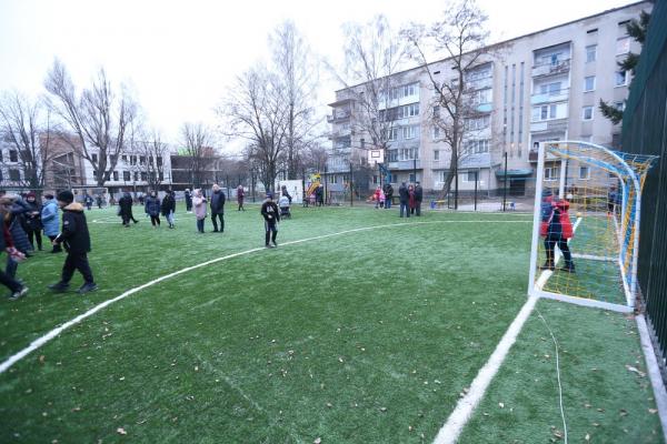 У Тернополі відкрили ще один спортивний майданчик