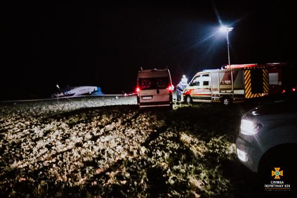 Авіакатастрофа на Тернопільщині: рятувальники встановили тип літака (Оновлюється)