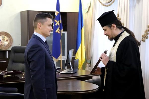 Владика Нестор благословив голову обласної ради Михайла Головка на плідну працю в ім'я України