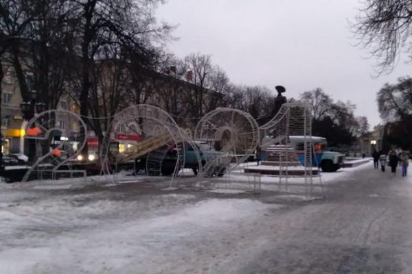 У центрі Тернополя встановили новорічну фотозону